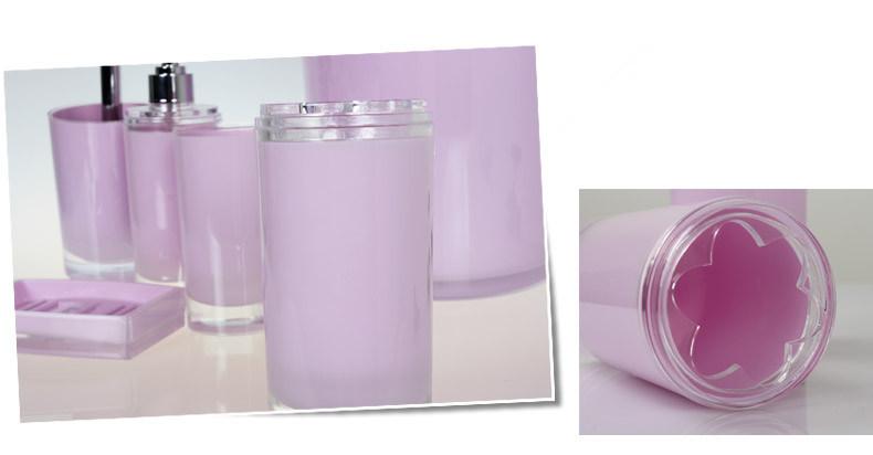 Acrylic/Plastic Bathroom Accessories Set (TS8015-6)