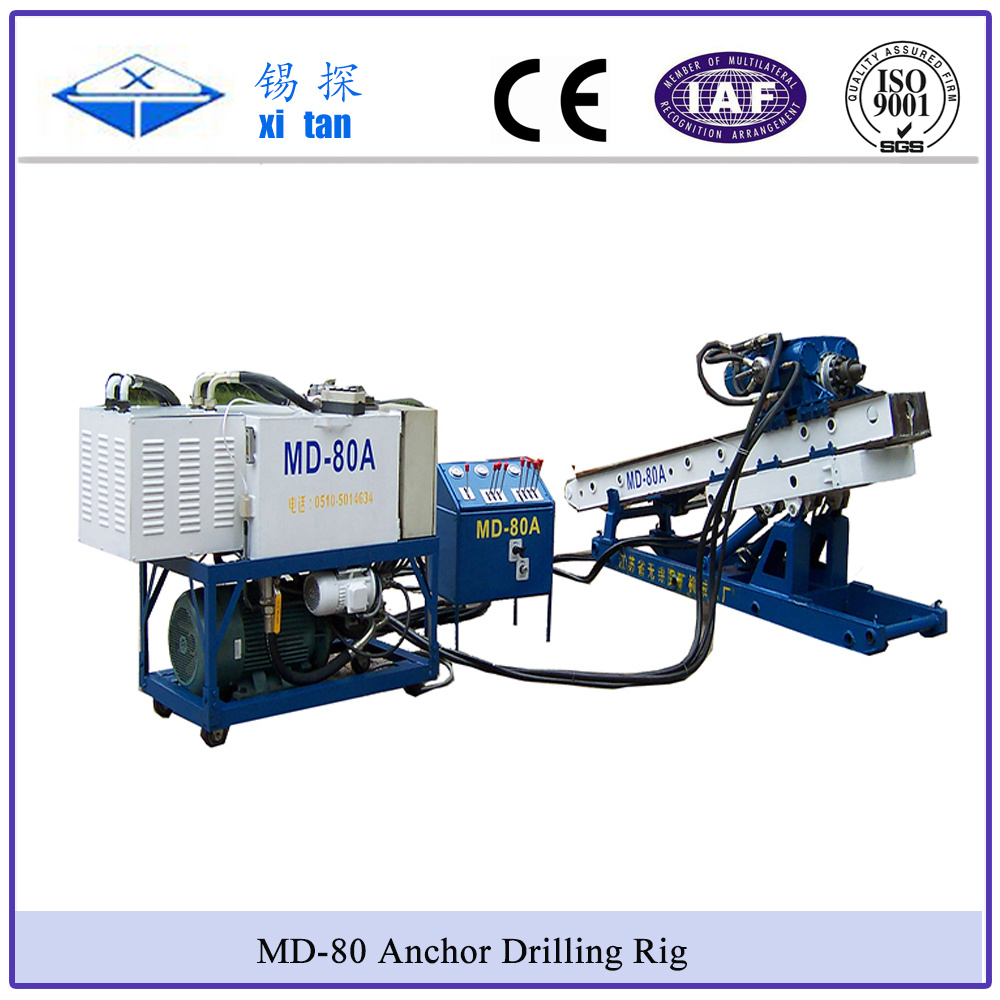Xitan MD80 Anchor Drilling Rig MD80 Slop Protection Anchor Drill MD-80 Soil Nailing Drill Rig Rock Drill