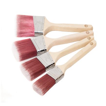 Angular Sash Brush with Wood Handle B012