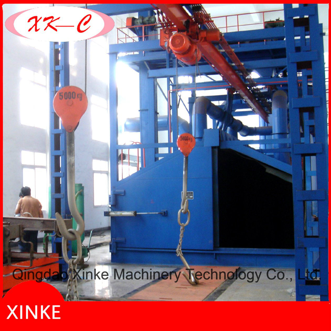 Big Hook Type Shot Blasting Dry Cleaning Machine