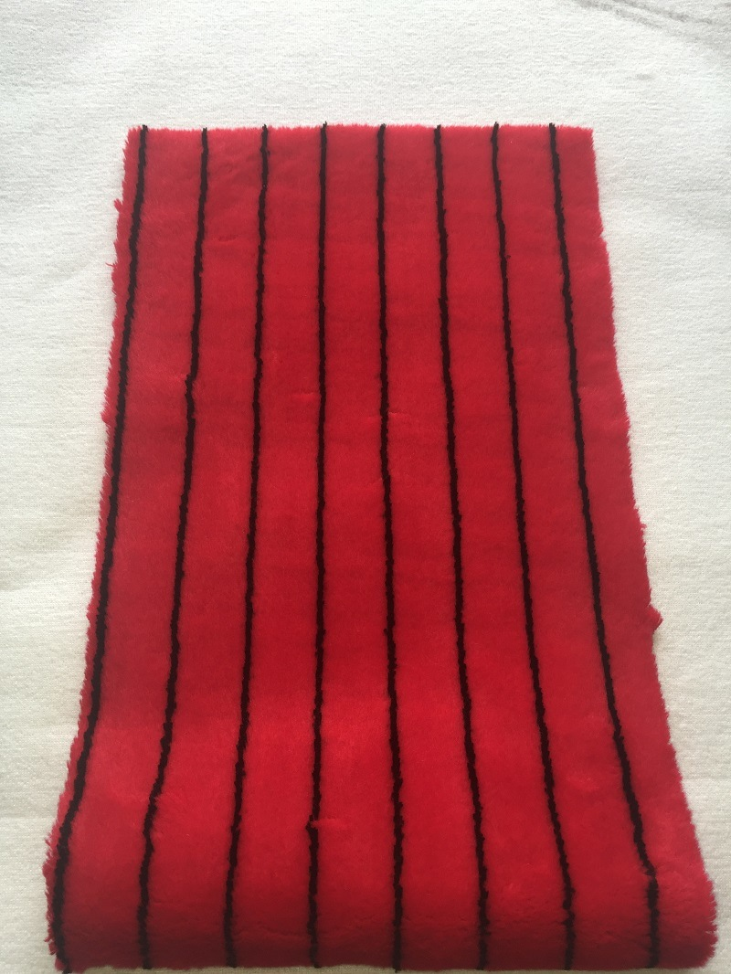 Red Black Line Panint Roller Fabric