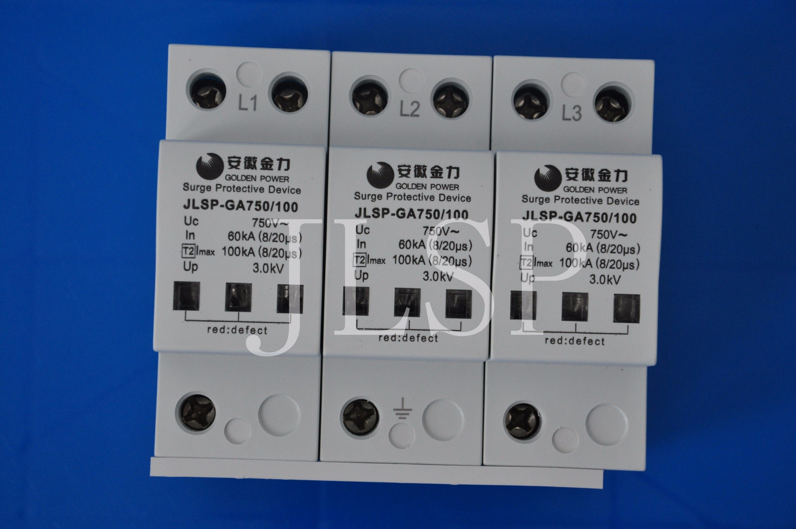 PV Application 20-40ka Solar 3p DC 1000V Jlsp-Ga750-100 Surge Protector, 17004