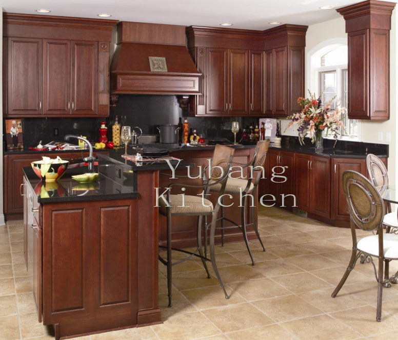 Cherry Wood Kitchen Cabinets Photos: China (Solid Cherry Wood Kitchen #2012-39) Kitchen Cabinet