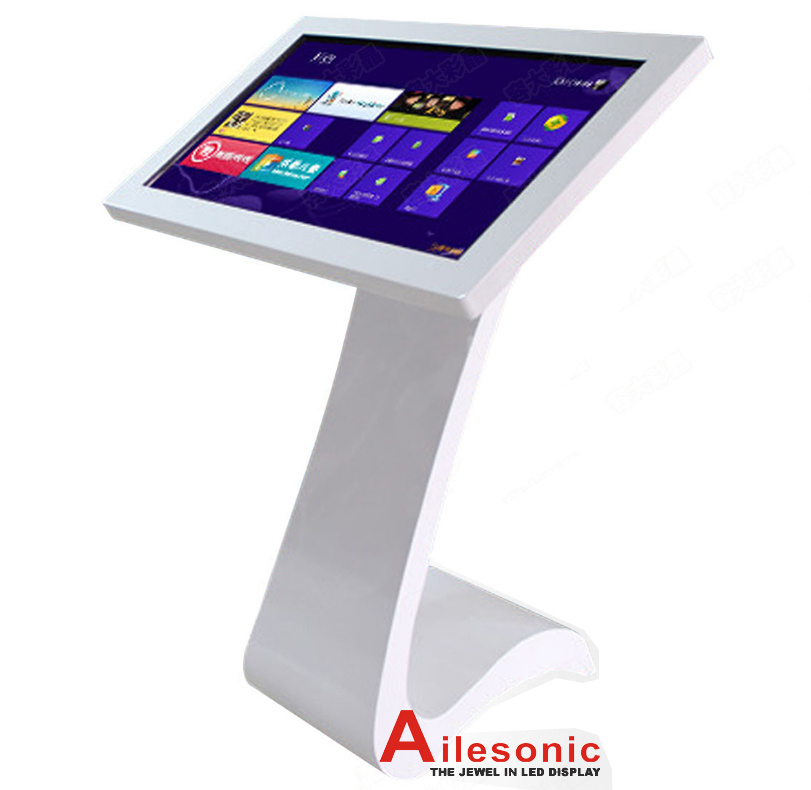 55 Inch Floor Stand LCD Touchscreen Panel Touch Screen Monitor Kiosk