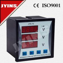 LED Digital Three Phase AC DC Voltmeter (JYK-72-3V)