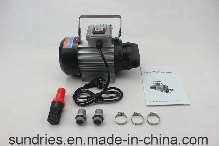 220V Engine Oil Transfer Gear Pump Motor 550W 20L/Min
