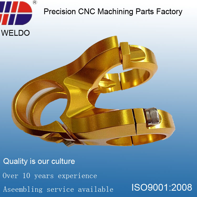Bicycle Metal Processing Precision CNC Machinery Parts with Gold Plating