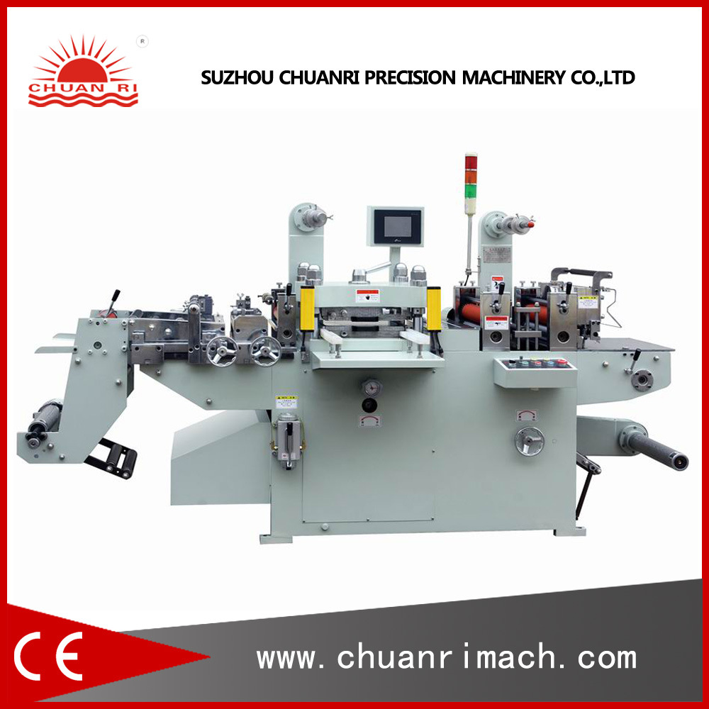 Roll Adhesive Label, Foam Tape, Film Automatic Die-Cutting Hot Stamping Machine