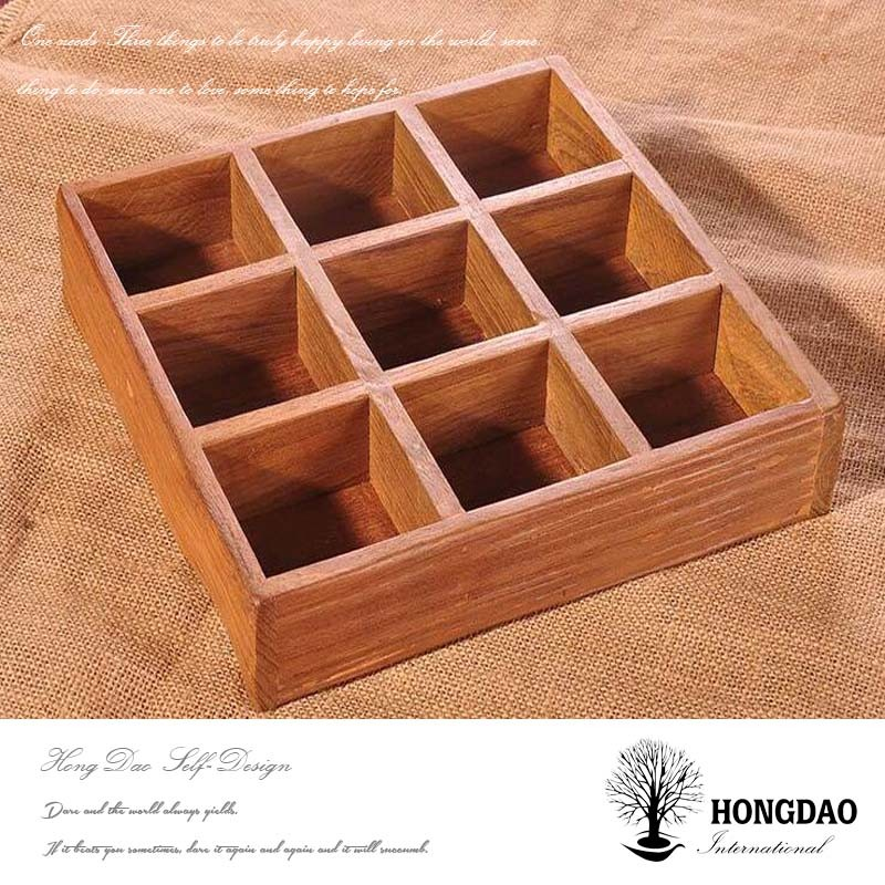 Hongdao Custom Wooden Planter Box with Dividers on Table Wholesale_D
