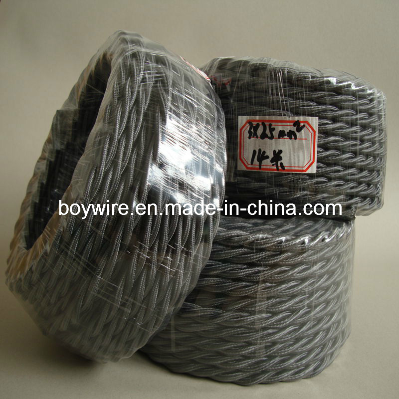 Three Conductor Twisted Wire, Braided Wire, Textile Cable (UL VDE SAA)