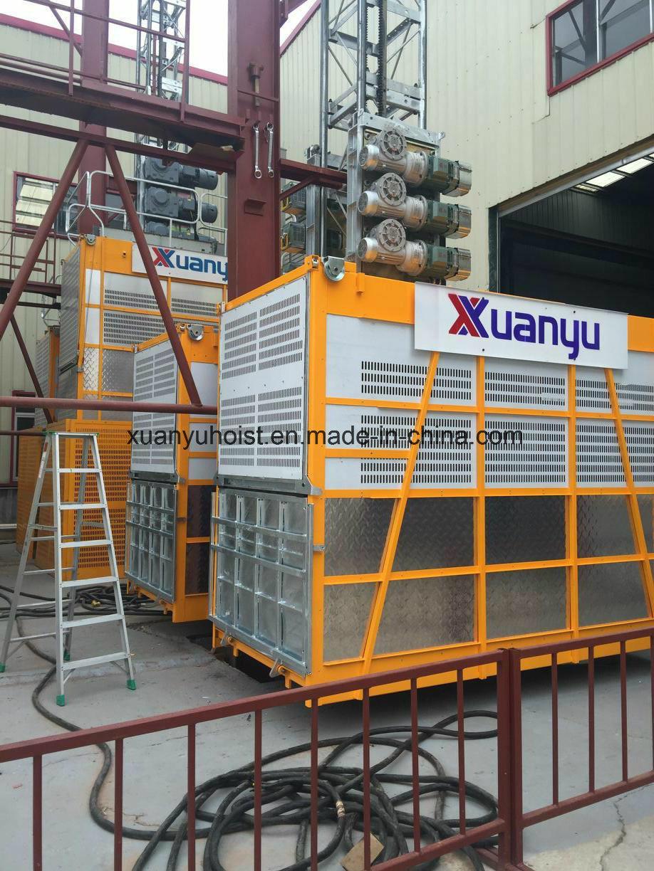 250m 0~96m/Min Speed Sc200/200 Construction Lift Hoist