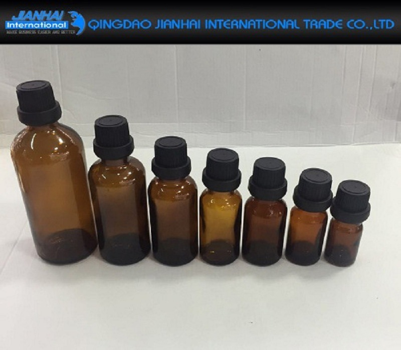 Essential Oil Amber Glass Vials with Orifice and Cap