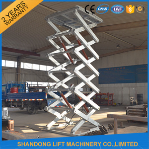 2017 New Steel Plate Warehouse Scissor Lift Lifting Equipment