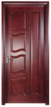 Walnut Flush Wooden Door with High Quality PU Painting