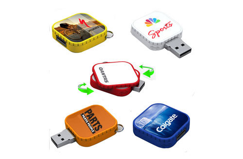 OEM USB Stick USB Flash Drive Rotation USB Flash Print Logo Pen Drive Memory Stick USB Thumb Flash Disk USB Flash Memory Crad Rubik′s Cube