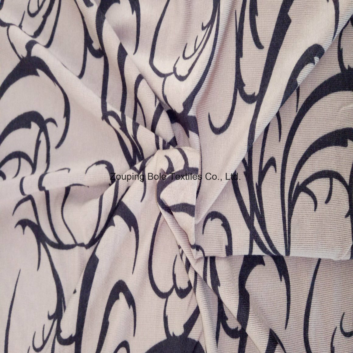 Knitting Fabric/Reactive Printed Stretch Fabric/Bamboo Fiber Cloth/Bamboo Fiber Fabric