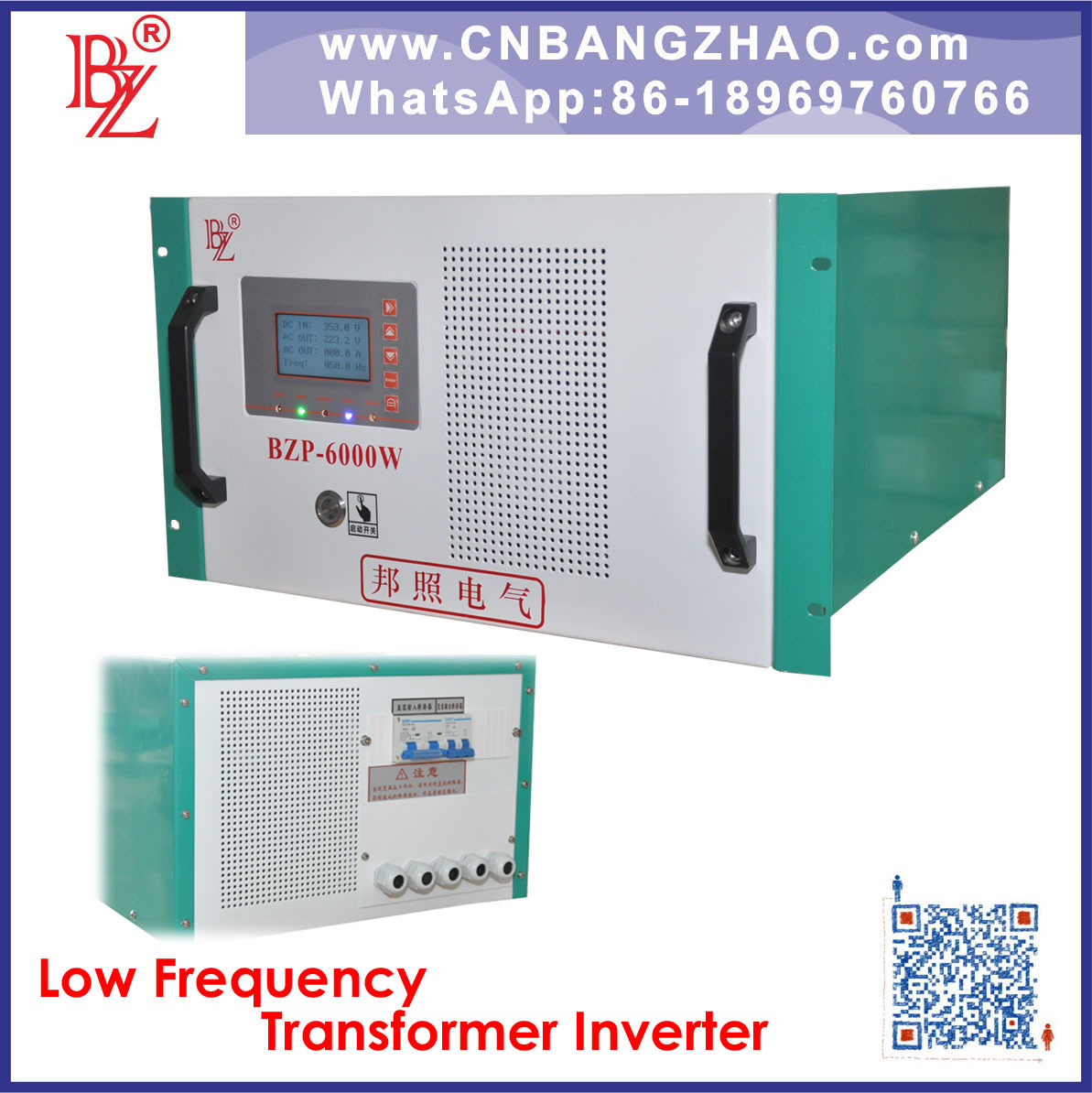 48V 96V 120V 240V DC Input Low Frequecy Transformer Hybrid Inverter with 120/240V Split Phase Output for Pure Sine Wave Solar Power System