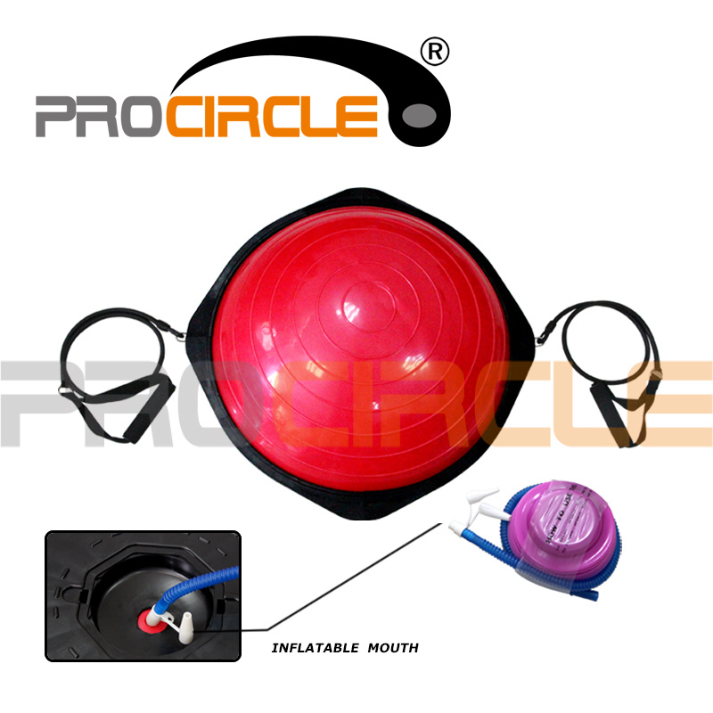 Half Yoga Ball Balance Trainer Bosu Ball with Hook (PC-BB2001)