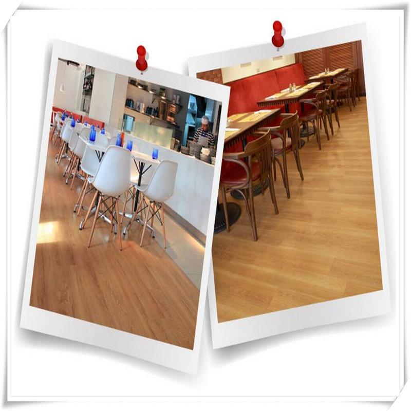 Wood Grain PVC Plastic Floor Cover