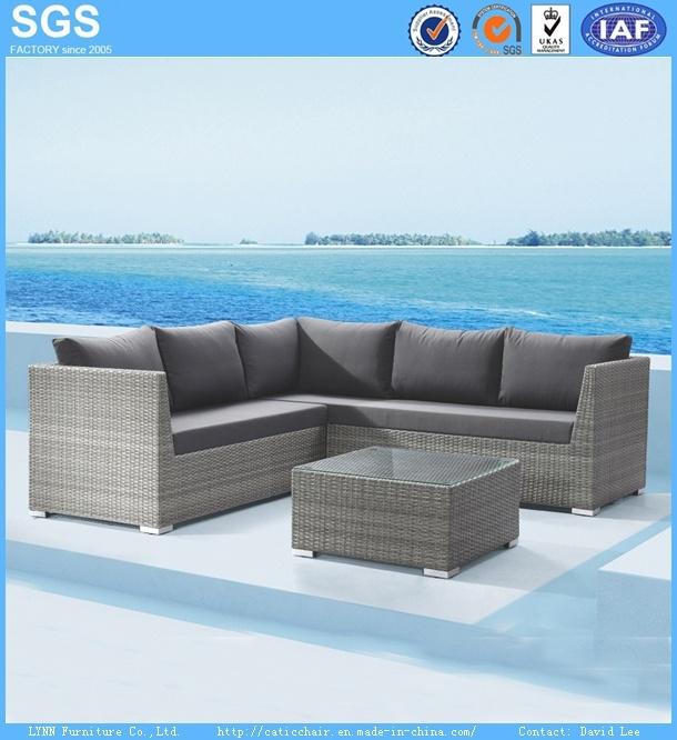 Patio Sofa Set Outdoor Waterproof Rattan Corner Sofa Garden Furniture