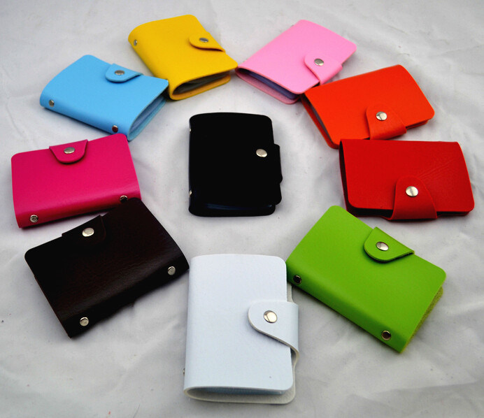 Fashion PU Leather Cards Collection Wallets