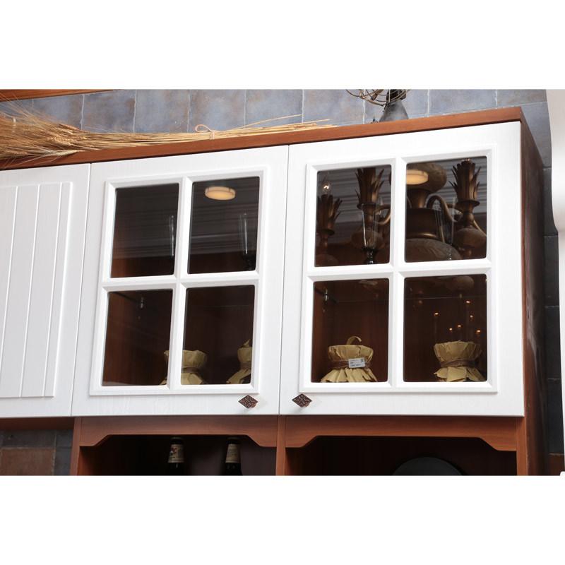 Nordic Rural Style Oppein L-Shape PP Kitchen Furniture (OP14-044)