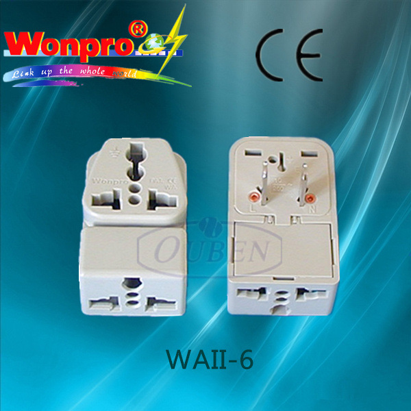 Universal Travel Adaptor WAII-6 (socket, plug)
