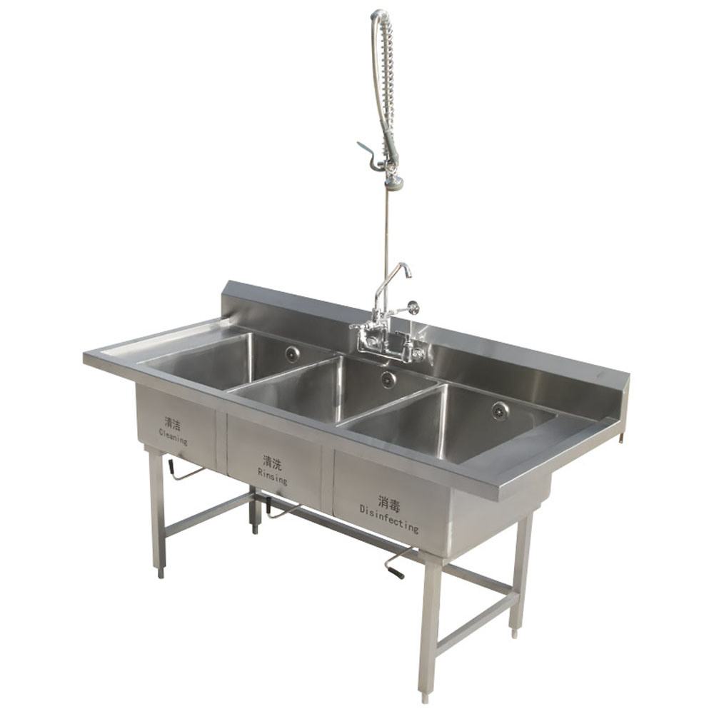China Stainless Steel Triple Biwls Kitchen Sink For
