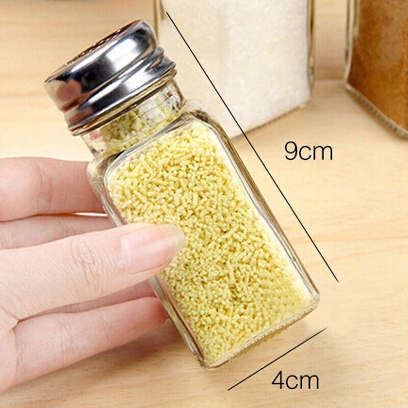 70ml Mini Condiment Glass Bottles for Storage Salt Spice