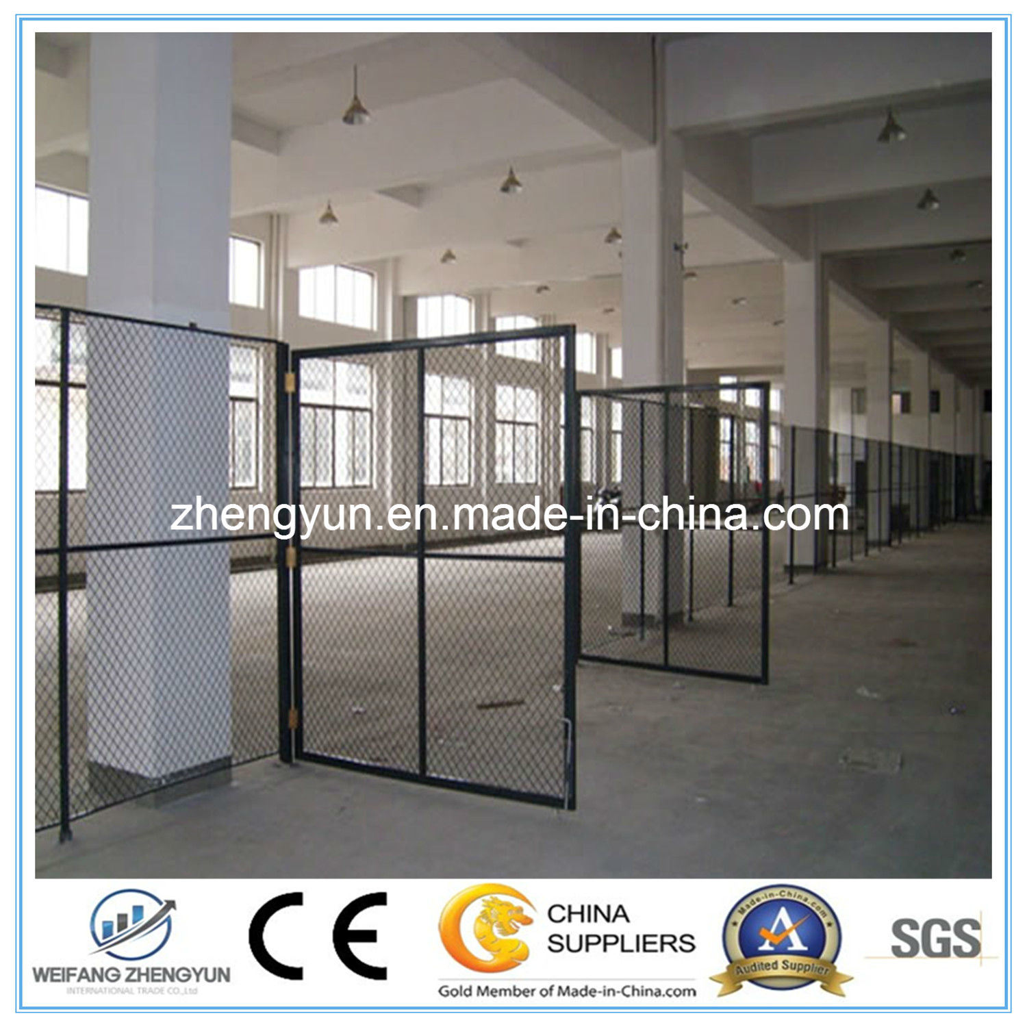 China Manufacturer High Quality Galvanized Fence Door