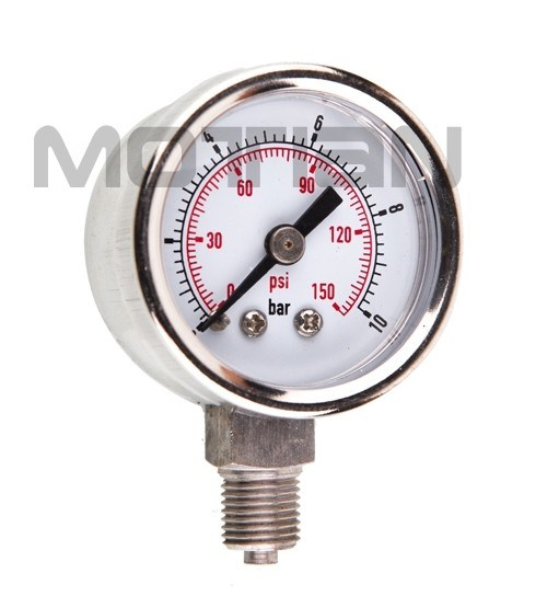 1.5 Inch Full Stainless Steel Digital Glass Surface Pressure Gauge with Safety Requirement