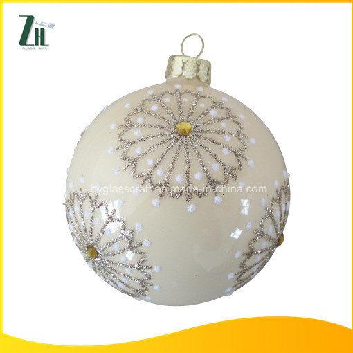 Hand Painted Glass Christmas Balls