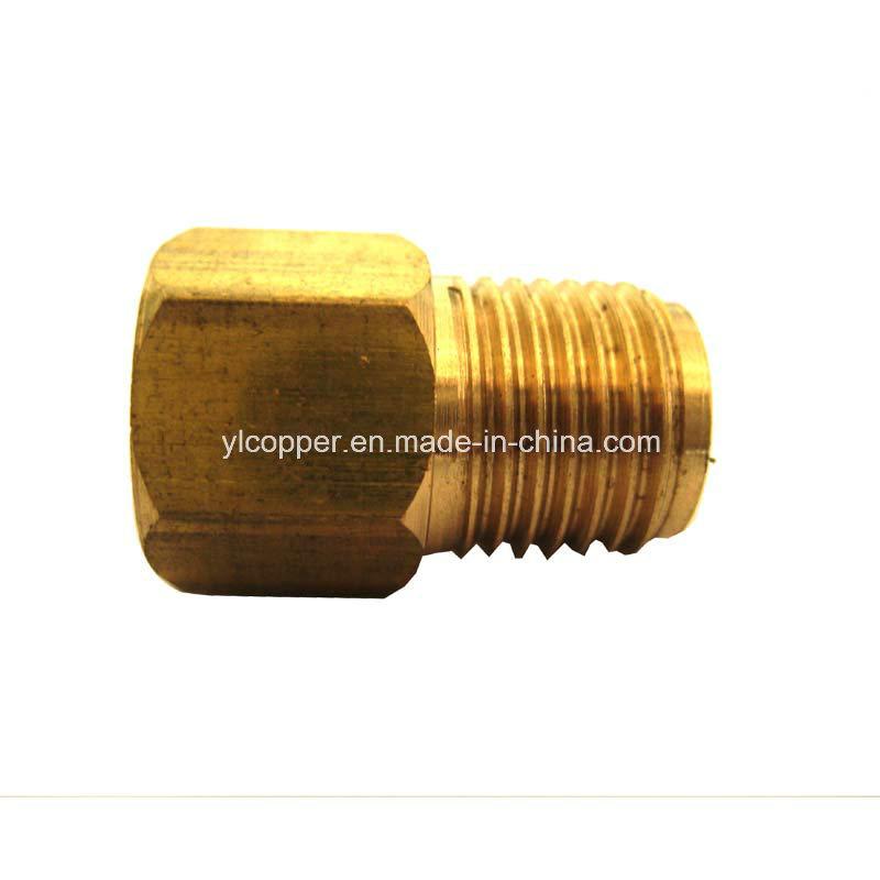"""Brass Brake Tube Adapter for 5/16"""" Fuel Line"""