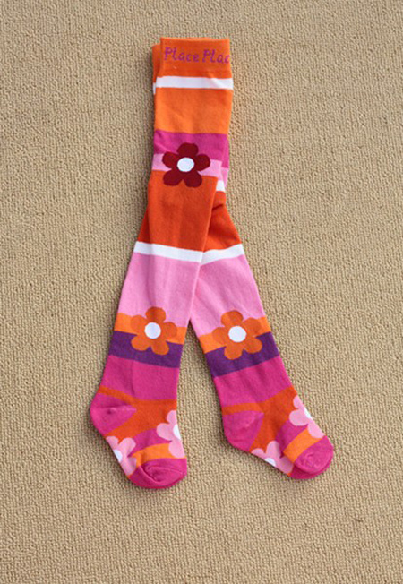 Kid′s Cotton Jacquard Tights for Any Age Size