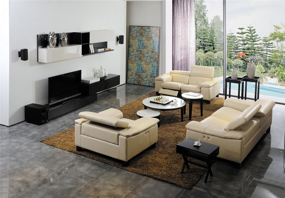 China Modern Living Room Furniture Leather Sofa 427