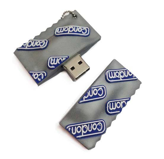 Wholesale USB Flash Drive Cartoom Condom Pendrives USB Drive Pen Drive USB Stick Flash Disk USB Memory Card USB 2.0 Flash Drive Card Pendrives Thumb Drive
