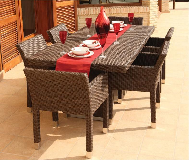 Rattan table and chair for patio or dining room china for Dining room table with wicker chairs