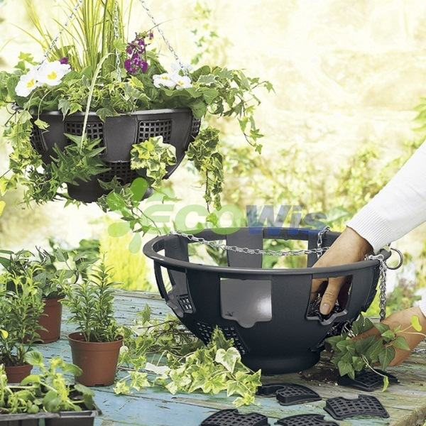 Plastic Hanging Planter Baskets China Manufacturer (HT5126)