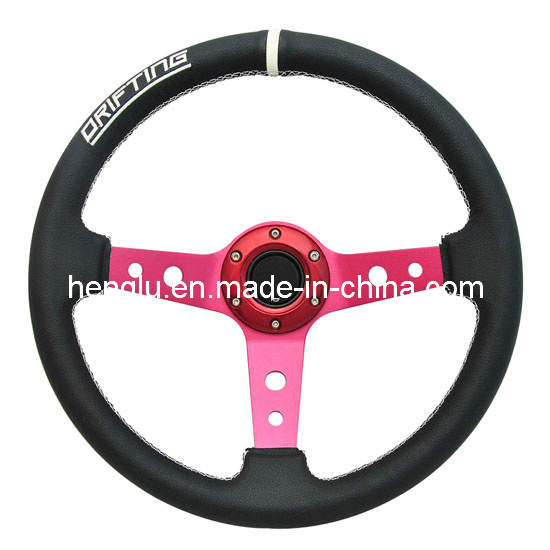 Deep Disk PVC PU Racing Steering Wheel (HL1001680)