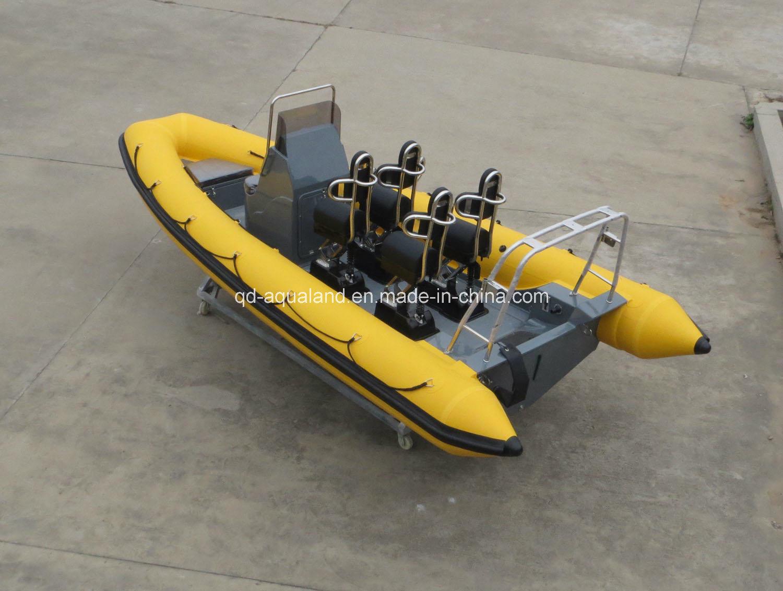 China Aqualand 19feet 5.8m Rigid Inflatable Rescue Patrol Boat/Rib Motor Boat/Fishing Boat (rib580t)