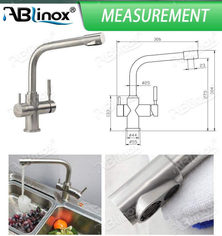 Ablinox Double-Handle Water Filteration Mixer (AB113)