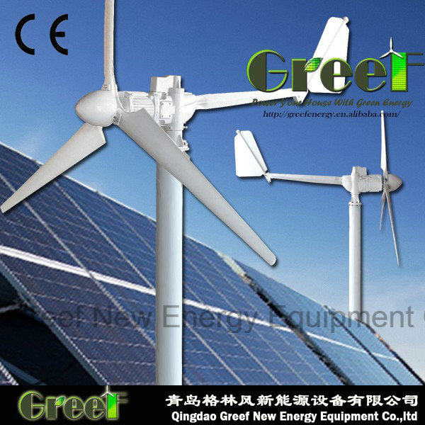 off-Grid/on-Grid System 2kw Horizonal Axis Wind Turbine for Home, Farm