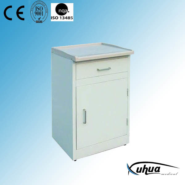 High Quality Hospital Medical ABS Top Steel Bedside Cabinet (K-4)