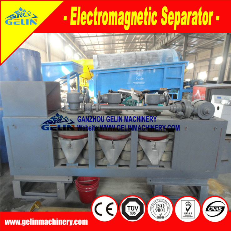 Electromagnetic Single-Disc High-Intensity Magnetic Separator for Monazite & Tungsten Ore Separation