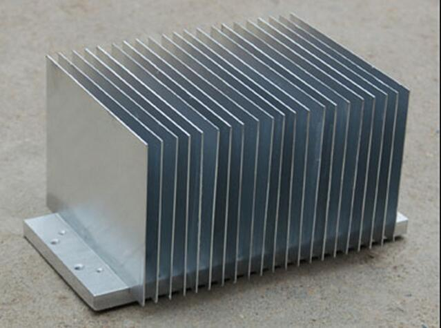 Customized 6000 Alloy Aluminium Extruded Radiator Heat Sink with Machining
