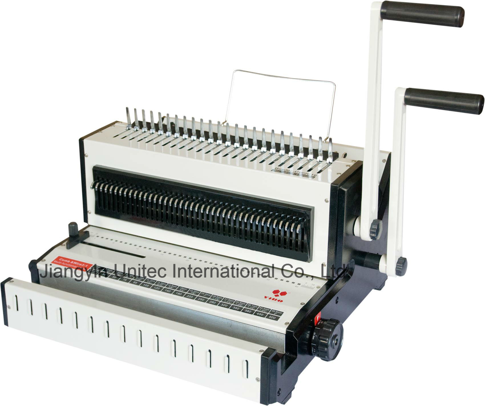 2016 New Selling Cw2016 Comb and Wire Book Binding Machine