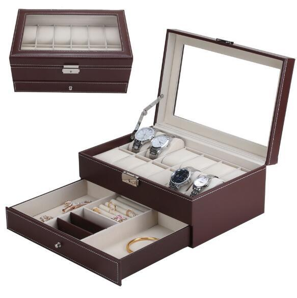 Watch Box Jewelry Box Leather Box for Storage and Display