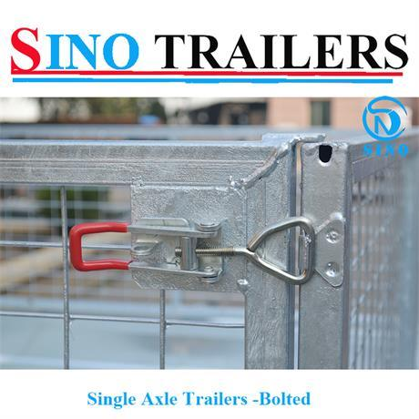 Hot Dipped Galvanised Single Axle Bolted Cage Trailers