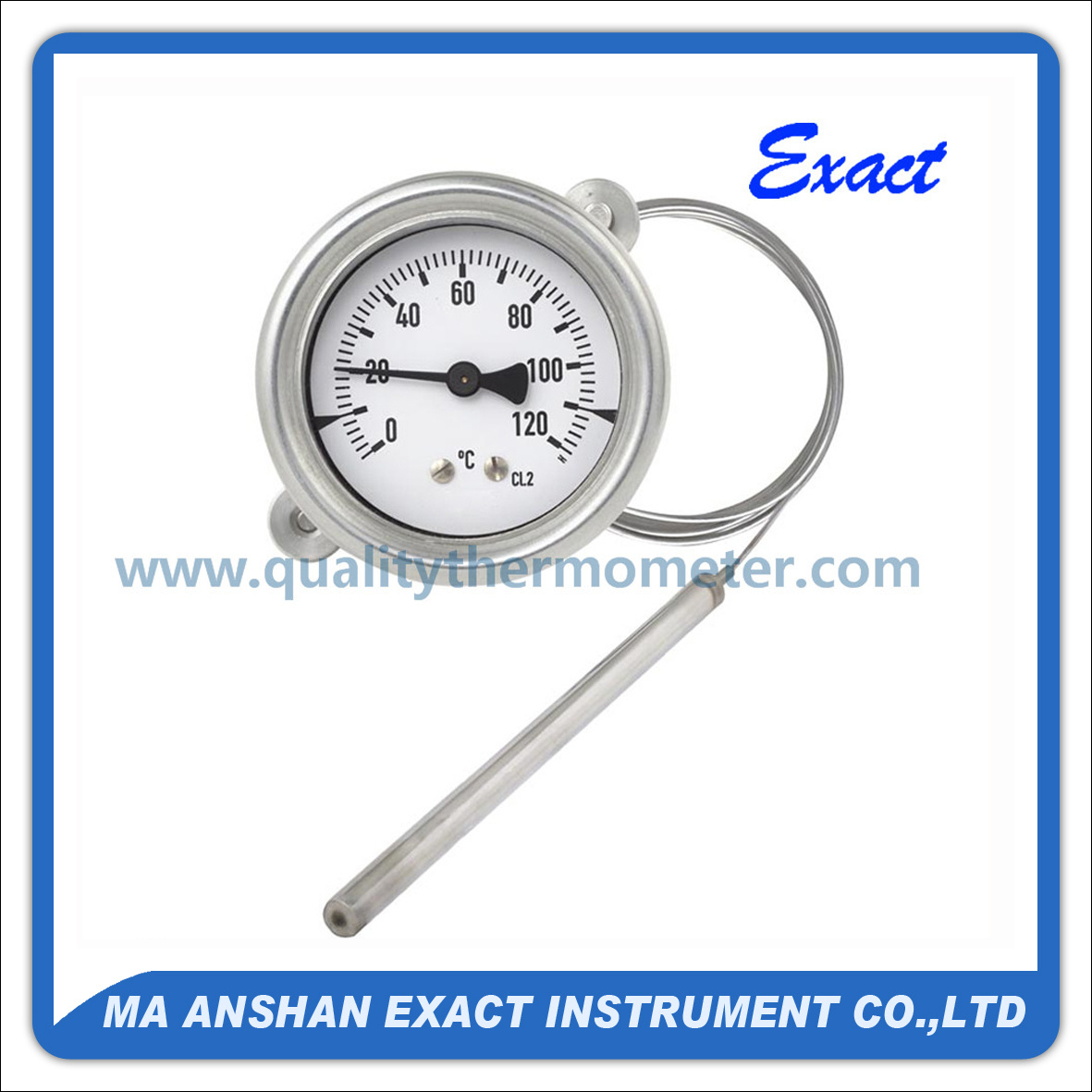 Capillary Thermometer-Temperature Gauge-Pressure Gauge Thermometer
