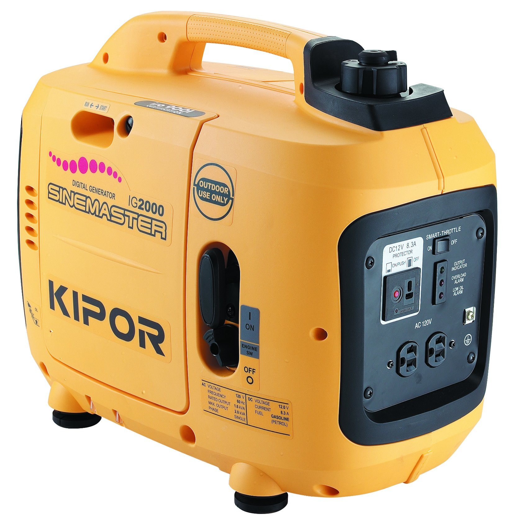 Kipor Ig2000/Ig2000p Gasoline Generator 2kw for Home Use, with Parallel Kit